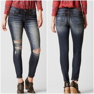 BKE Stella Ankle Stretch Skinny Distressed Jeans